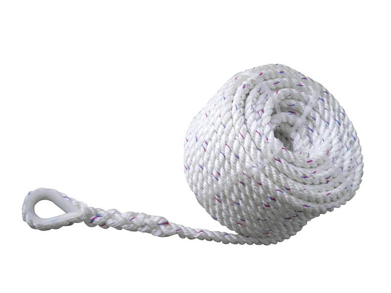 Ankkuriköysi RST nylon kousilla, polyester, 14 x 40m (2900 kg), valkoinen