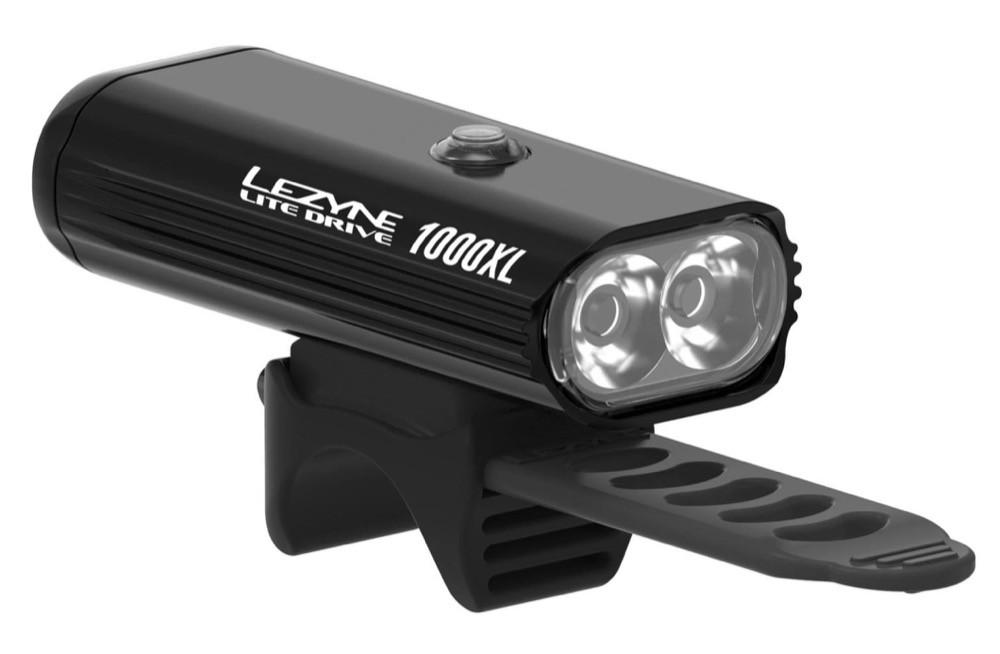 Ladattava led-etuvalo LEZYNE Lite Drive 1000XL Kaukosäätimellä, musta