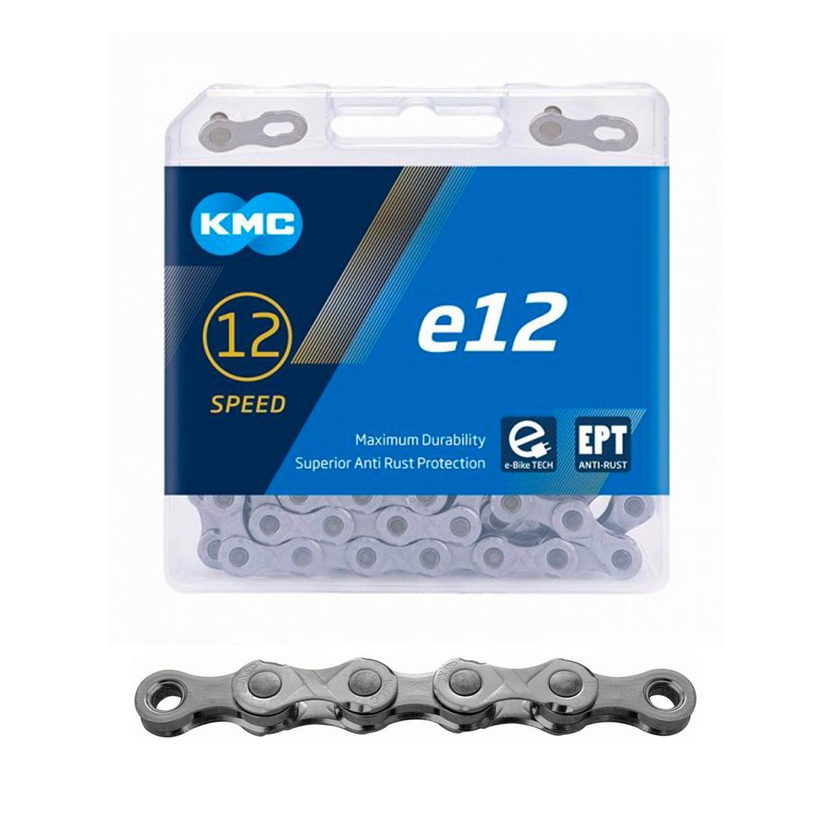 """Ketju 12-v KMC e12 EPT, 1/2 x 11/128"""", E-Bike, 130L, Anti Rust"""
