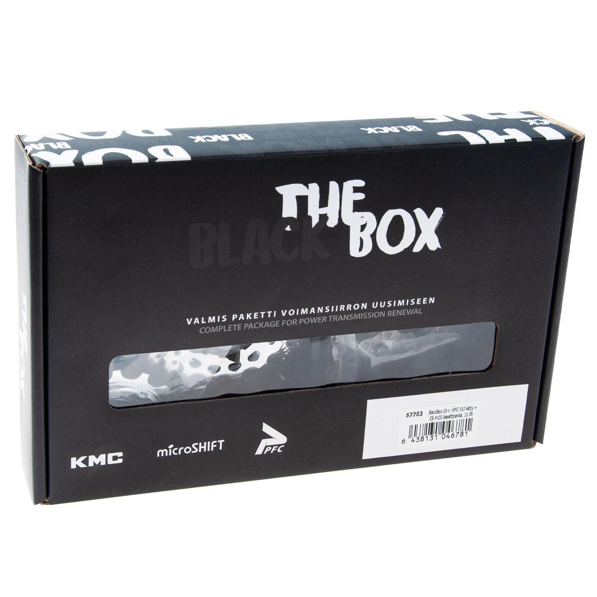 BlackBox 9-v: KMC X9-73 ketju + CS-H092 kasettipakka, 11-32