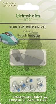 Teräsarja BOSCH Indego Auto Mower 9 kpl, sisältää ruuvit