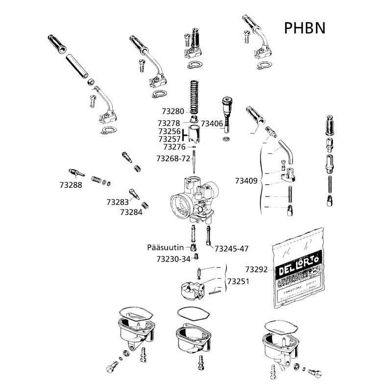 Tyhjäkäyntisuutin 42 DELLORTO PHBN/PHVA