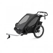 Lastenkuljetusperäkärry THULE Chariot Sport 2, Midnight black, musta