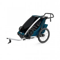 Lastenkuljetusperäkärry THULE Chariot Cross1, Majolica Blue, sininen
