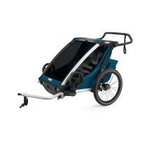 Lastenkuljetusperäkärry THULE Chariot Cross2, Majolica Blue, sininen