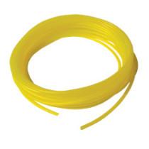 Polttoaineletku silikoni ARCHER: 1,59mm x 3,18mm, keltainen, 7,62 m