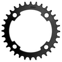 Ketjuratas E-bike, 32h, Narrow wide,BCD104, alumiinia, musta