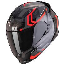 SCORPION EXO-491 Spin, kypärä, musta/punainen