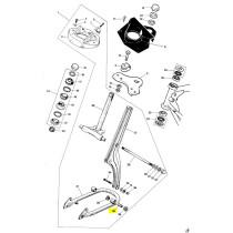 Etuhaarukkaan keinuvarren teräsholkki: Tunturi Maxi/Start/Automat/Sport käsiv