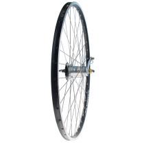 """Takapyörä 28"""" 19-622 NEXUS 3v. Alex X-2000, 2-pohja, alumiini, musta"""