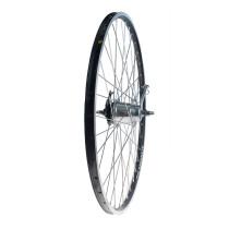 """Takapyörä 28"""" 19-622 NEXUS 7v. Alex X-2000, 2-pohja, alumiini, musta"""