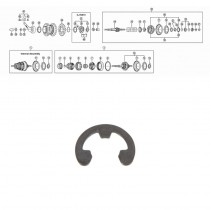 SHIMANO NEXUS 3-V JA 7-V, ( SG-3C40/41 JA SG-7C25/30),varmistinrengas D:9mm