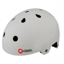 Pyöräilykypärä X-COOL BMX mattavalkoinen, 58-61, säätöpannalla