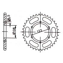 Takaratas 53z Derbi Senda SM 2011- ALU, punainen