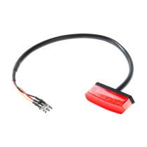 Takavalo LED mini FORTE: Punainen, E-hyväksytty