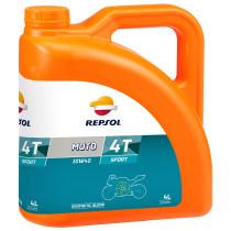 REPSOL Moto Sport 4T 10W40, 4 litraa, synteettinen
