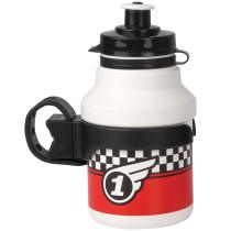 "Lasten juomapullo ""RACE"", 350ml., sis Clip-on teline"
