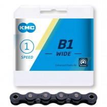 """Ketju 1-v KMC B1 Wide Black, 1/2 x 1/8"""", 112 L"""