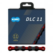 Ketju 11-v KMC DLC11, Black/Red, 118L
