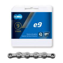 """Ketju 9-v KMC e9 EPT, 1/2 x 11/128"""", E-Bike, 136L, Anti Rust"""