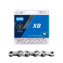 """Ketju 6/7/8-v KMC X8 Silver, 1/2 x 3/32"""", 114L"""