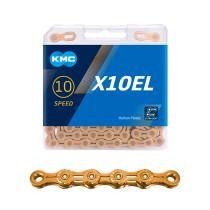 """Ketju 10-v KMC X10EL Ti-N Gold, 1/2 x 11/128"""", 114L"""