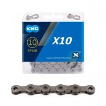 "Ketju 10-v KMC X10 Grey, 1/2 x 11/128"", 114L"