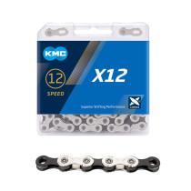 """Ketju 12-v KMC X12 Silver/Black, 1/2 x 11/128"""", 126L"""