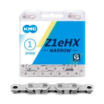 """Ketju 1-v KMC Z1eHX Narrow Silver, 1/2 x 3/32"""", 112L"""