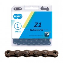 "Ketju 1-v KMC Z1 Narrow Brown, 1/2 x 3/32"", 112L"