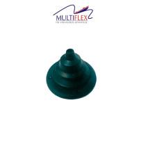 Läpivientikumi kaapelille MULTIFLEX: musta 55x14x65mm.