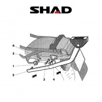 SHAD Perälaukkuteline HONDA CBR 1000 F (94-01)