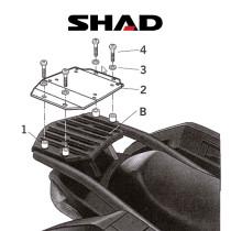 SHAD Perälaukkuteline KAWASAKI GTR 1400 (07-11)