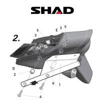 SHAD Perälaukkuteline KAWASAKI ZRX1200 (01-08)