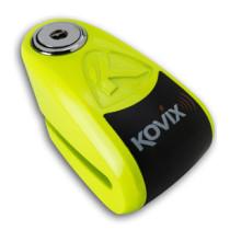 KOVIX Hälyttävä levylukko 10mm, Fluorikeltainen