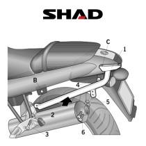 SHAD Perälaukkuteline BMW R850R/R1150R (02-07)