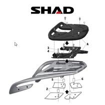 SHAD Perälaukkuteline BMW R1200 RT (09-11)