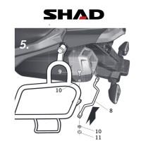 SHAD Sivulaukkuteline YAMAHA XT 660 Z (08-10)