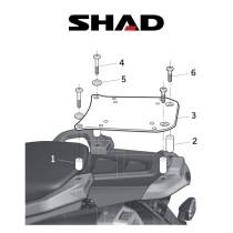 SHAD Perälaukkuteline YAMAHA XT 660 Z (08-10)