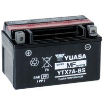 Akku YTX7A-BS, YUASA 12V/6Ah, mukana happopatruuna