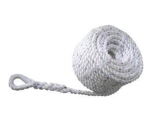Ankkuriköysi nylon kousilla, polyester, 12 x 35m (2100 kg), valkoinen