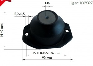 Moottorin kumityyny: Microcar MGO / M8, Ligier, etummainen M6 kiinnitys