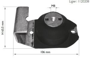 Moottorin kumityyny: Ligier Too Max/R/RS/S/IXO, alempi